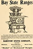 1904 Ad Barstow Stove Bay State Ranges Home Appliance - Original Print Ad