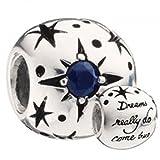 Authentic Chamilia Disney Charm Dreams Really Do Come True DIS-503