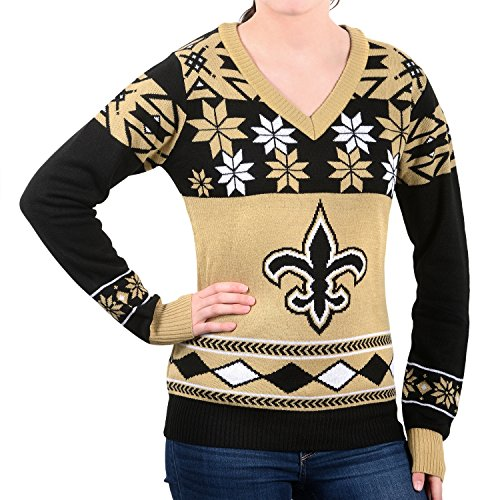 Saints Women's V-Neck Sweater