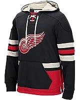 "Detroit Red Wings Men's NHL CCM ""Lace Em Up"" Pullover Hooded Sweatshirt - Black"