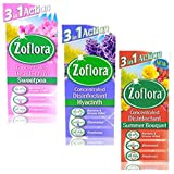 3 X Concentrated Zoflora Antibacterial Disinfectant*120ml*Sweetpea, Hyacinth, Summer Bouquet*Wow **** - Free Bathroom Scrunchie