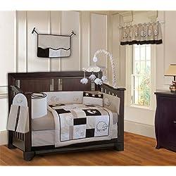 BabyFad Sheep Lamb 10 Piece Baby Crib Bedding Set