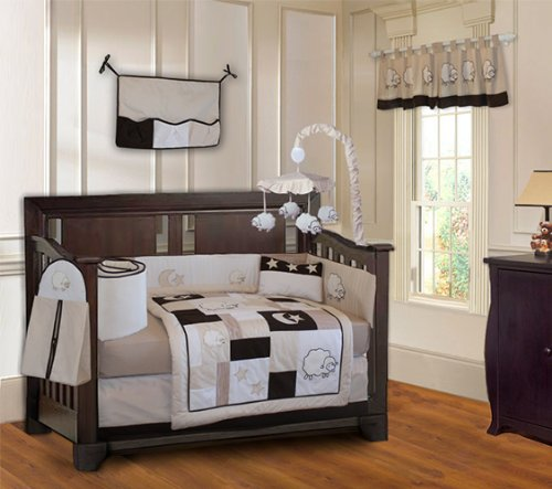 BabyFad Sheep 10 Piece Baby Crib Bedding Set