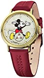 Disney by Ingersoll 26502 Ladies The Golden Years Mickey Mouse Burgundy Watch