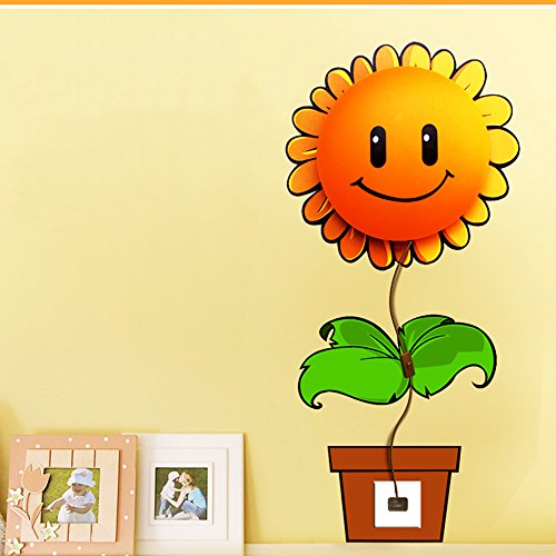 Eiiox Cute Diy Night Light For Baby Room Decor Bedroom Living-Room Decor With Sunflower Wallpaper front-59310