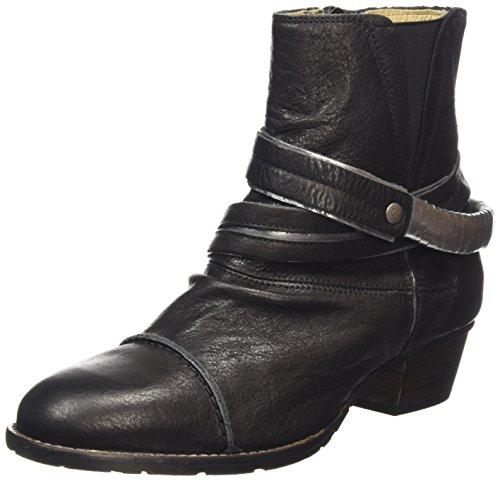 dkode RUTH, Stivali classici imbottiti a mezza gamba donna, Nero (Schwarz (Black/Silver 001)), 38