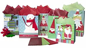The Gift Wrap Company Holiday Krafty Time Gift Bag Assortment