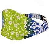 Silly yogi bali print yoga headband-Lime Green-One size