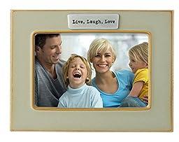 Grasslands Road Live Laugh Love Ceramic Frame, Sandscape, 4 by 6-Inch by Grasslands Road
