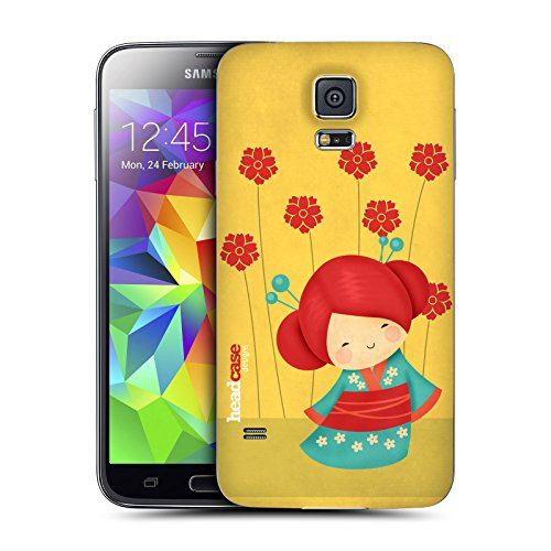 Head Case Designs Aya Japanese Dolls Replacement Battery Back Cover for Samsung Galaxy S5