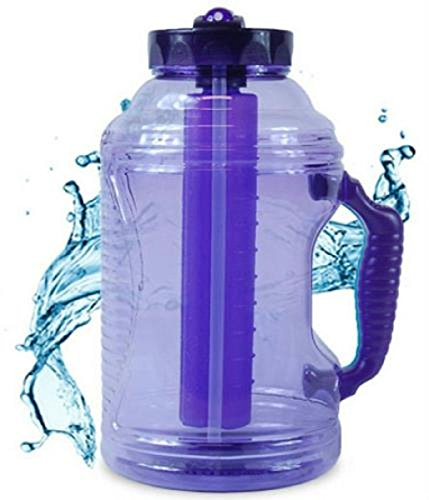 Cool Gear 75 oz EZ Freeze Water Bottle w/ Handle Straw and Ice Pack (Purple) (Ez Pack compare prices)