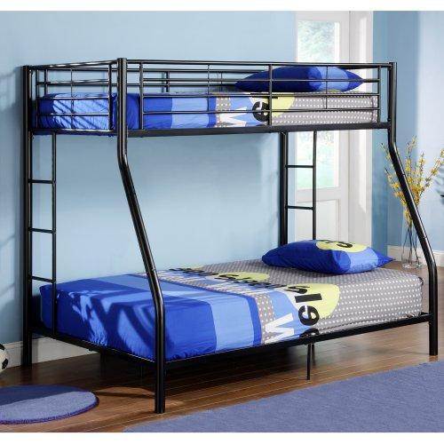 Black Metal Bunk Beds 174729 front