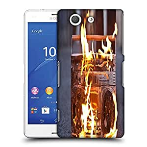 Snoogg Boombox In Fire Photography Designer Protective Phone Back Case Cover For SONY XPERIA Z3 COMPACT