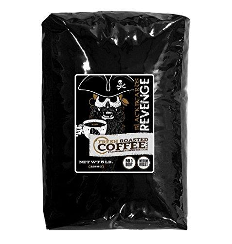 5 Lb. Bag, Blackbeard's Revenge, Whole bean coffee, Fresh Roasted Coffee LLC. (Fresh Roasted Coffee Llc 5lb compare prices)