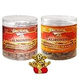 Chocholik Dry Fruits - Almonds Smoked Barbeque & Tandoori Masala With Small Ganesha Idol - Diwali Gifts - 2 Combo...