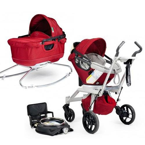 Orbit Baby Stroller Travel System G2 with Bassinet Cradle G2 Ruby Slate