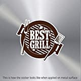 Decor Decal Best Grill Bbq Sign Weatherproof Sailboat Specialty Stable Bike (12 X 10.4 In)