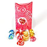 Lindt 'I Love You Mum' Love Pouch - By Moreton Gifts - Great for Mother's Day, Birthday, Thank you Gift - Gold Bear, Truffles, Heart