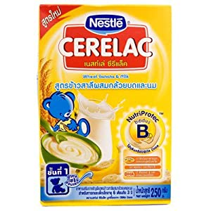 Amazon.com : Nestle Cerelac Baby Food Wheat Banana & Milk ...