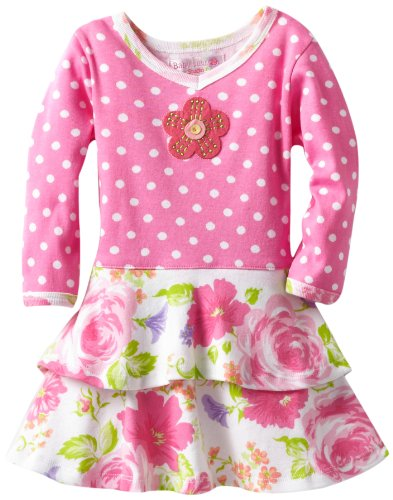 Baby Lulu Baby-Girls Infant Anna Rose Dress, Pink, 18 Months