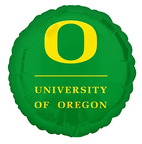 "Anagram International University of Oregon Green Flat Balloon, 18"", Multicolor"