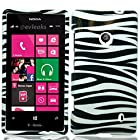 HJ POWER[TM] Nokia Lumia 521 Windows Phone 8 Hard Snap-on Case CoverEGPI-Zebra Black White