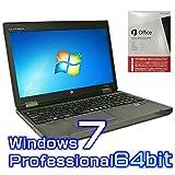 中古ノートパソコン hp ProBook 6560b【Windows7 Pro 64bit・Core i7・Microsoft Office 2013付き ワード エクセル パワーポイント】
