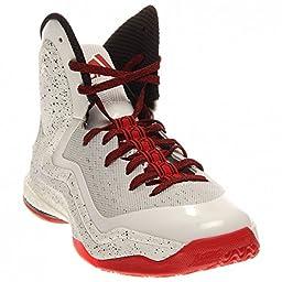 adidas Performance D Rose 5 Boost J Kids\' Basketball Shoe (Big Kid), White/Black, 4.5 M US Big Kid
