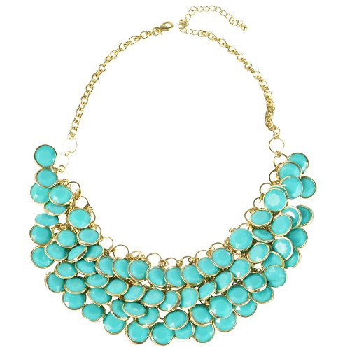 Floating Necklace, Blue Necklace, Statement Necklace (Fn0510)