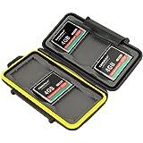 JJC Multi Memory Card Case MC-CF6 Speicherkarten Schutzbox für 6 Stück CF Cards - extreme Wasserdicht und Stoßfest Box Safe Tasche Etui Aufbewahrungsbox Hülle