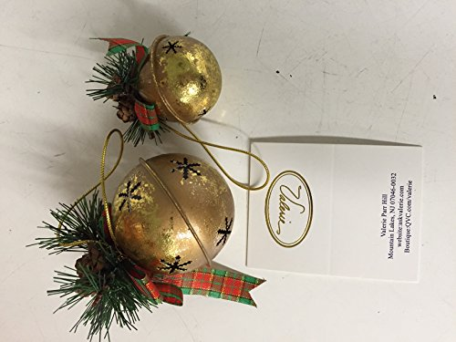 Set of 10 Gold Jingle Bell Ornaments by Valerie #H12719
