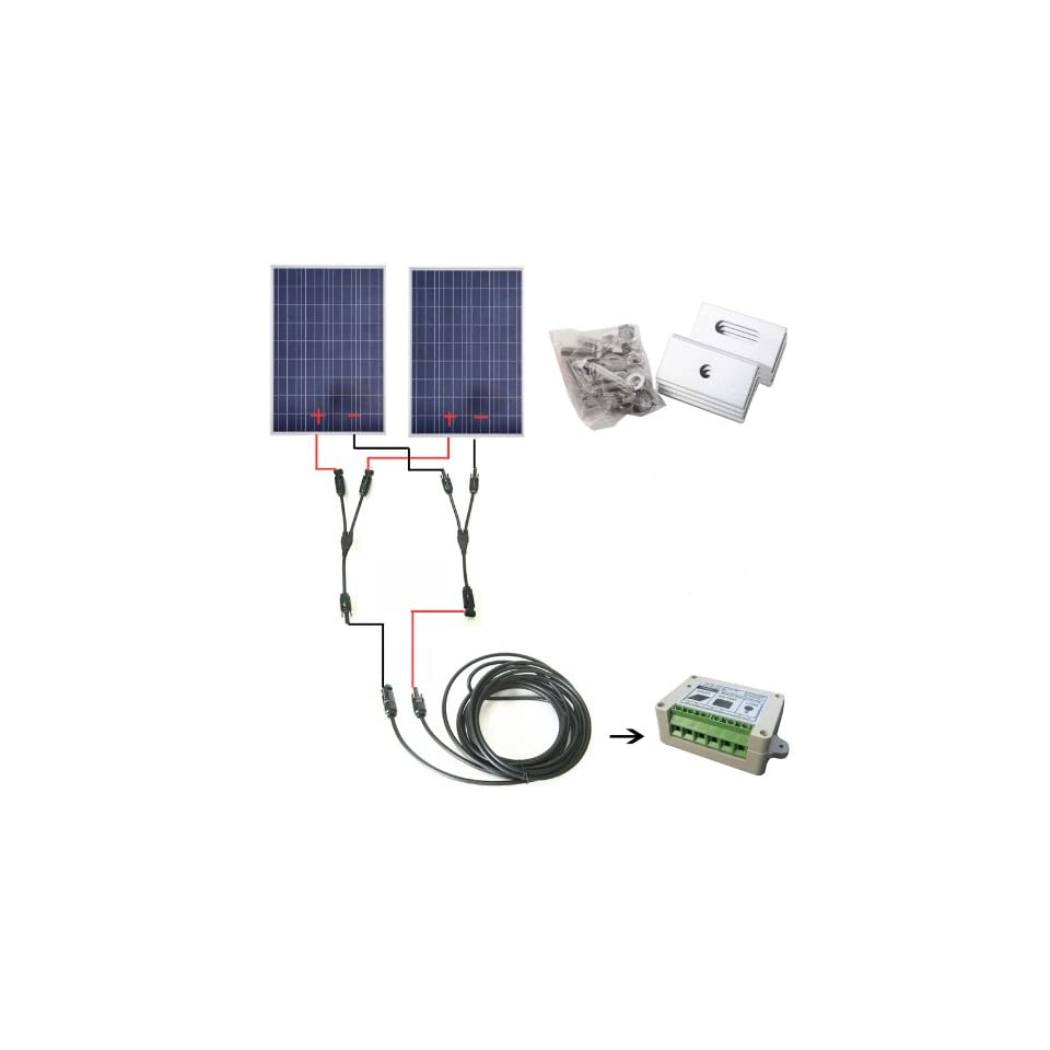200 Watt 12v 24v 200w 200watts Pv Solar Panel Kit Rv Boat