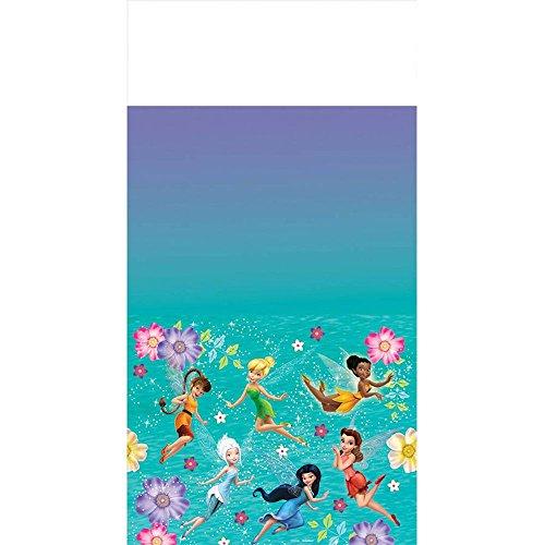 "Tinkerbell Best Friend Fairies Plastic Tablecover 54"" x 96"" - 1"