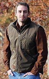 Outback Trading Co Men\'s Co. Sawbuck Flannel Lined Oilskin Vest Sage Medium