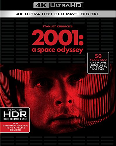 DVD : 2001: A Space Odyssey (With Blu-Ray, 4K Mastering, 3 Pack, Dolby, Digital Theater System)