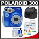 Polaroid PIC-300L Instant Film Analog Camera with Polaroid 300 Instant Film Packs of 10 + Case + Cleaning Kit