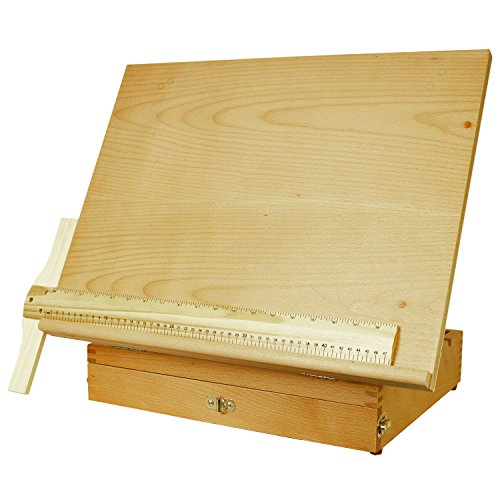 US Art Supply Adjustable Wood Artist Drawing & Sketching Board With Storage Drawer (Drafting Storage compare prices)