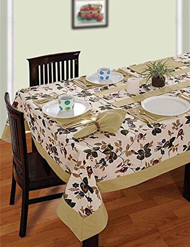 multicolori variopinte cotone floreale di primavera Tovaglie Tabelle 60 x 84 pollici, beige chiaro di frontiera