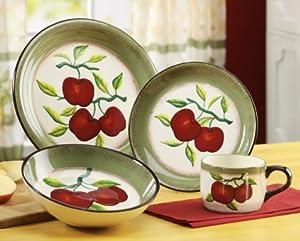Apple Harvest 16-piece dinnerware set ceramic