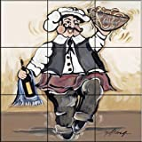 The Tile Mural Store - Service With A Smile I by Joy Alldredge - Kitchen Backsplash / Bathroom wall Tile Mural