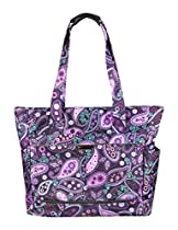 Ricardo Beverly Hills Mar Vista 18-Inch Shopper, Purple Paisley, One Size