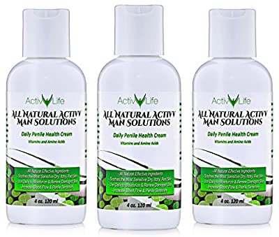 Activv Man Solutions - All Natural Penile Health Cream 4.0 Oz - Treat Irritated, Dry, or Cracked Penile Skin - Provides Relief from Penis Chafing - May Treat Eczema and Increase Penile Sensitivity