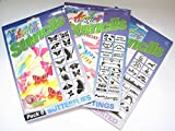 Art Craft Stencils Pack of 3 Butterflies Greetings Assorted Air Brush Stencilling etc