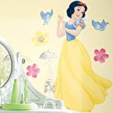 Roommates Rmk1467Gm Snow White Peel & Stick Giant Wall Decal With Gems