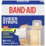 Band-Aid Bandages, Brand Adhesive, Sheer Strips, Assorted, 80 ct.