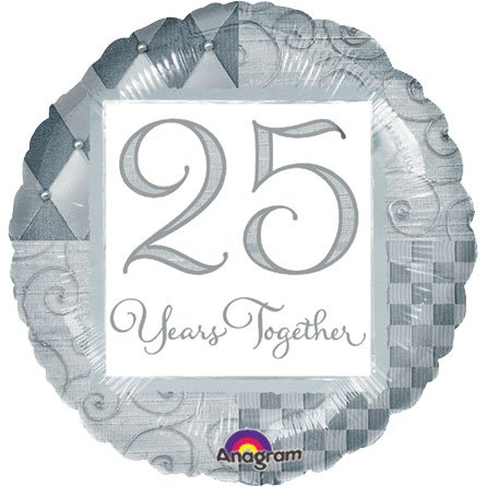 25 Years Together Mylar Balloon - 18 inch