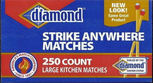 Diamond Strike Anywhere 250 Count Large Kitchen Matches (048789022448)