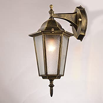 NATSEN Vintage Village Wall Sconce 1-Light Wall lamp E26 Metal max E26 60W bulb