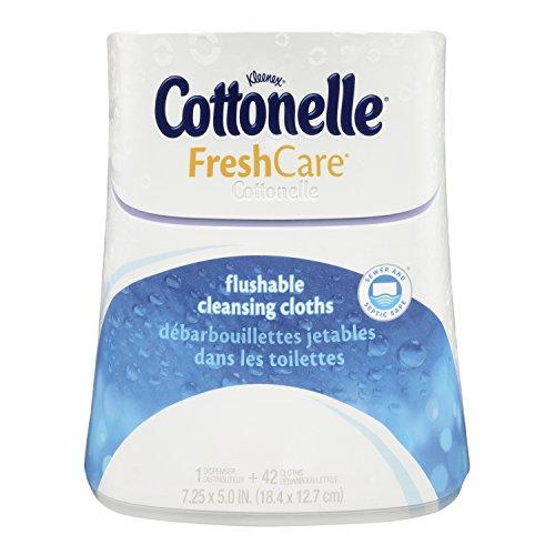 Cottonelle Fresh Care Flushable Cleansing Cloths Dispenser 42