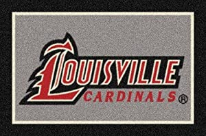 "Louisville Cardinals 3' 10"" x 5' 4"" Team Spirit Area Rug"